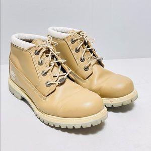 Timberland Tan Waterproof Leather Nabuck Sz 8.5M